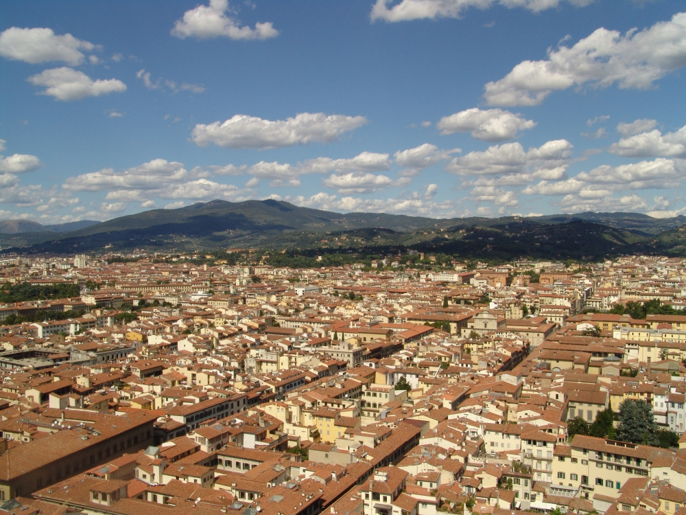 Florence, Italy from atop the Duomo.