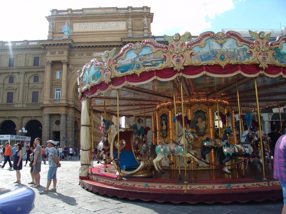 Carousel in Piazza della Repubblica.