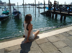 Sitting on the edge of Piazza San Marco staring at the wonderful view of Canale di San Marco.