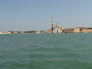 The view from Punta Della Dogana to Isola di San Giorgio Maggiore.