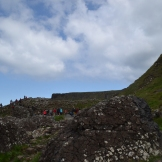 Walking at The Giant's Causeway
